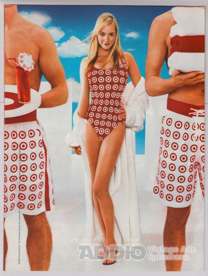 Target PRINT AD swimsuit model bullseye advertisement 2001
