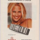 Omega watches Anna Kournikova PRINT AD wrist watch advertisement 2001
