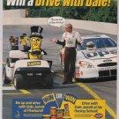 Planters PRINT AD Dale Jarrett NASCAR Mr. Peanut advertisement 2001