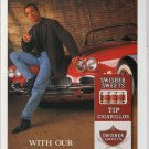 Swisher Sweets Cigarillos '90s PRINT AD Corvette King Edward smoking advertisement 1998