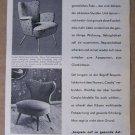 Casala '50s German PRINT AD chairs furniture illustrated vintage advertisement MCM 1957