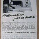 Zundapp '50s sewing machine ZR 128 B PRINT AD German vintage advertisement 1957