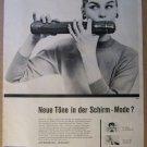 Kobold umbrella '50s German PRINT AD flautist flute vintage advertisement 1957