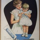 UHU-Line '50s German PRINT AD laundry mother child illustrated vintage advertisement 1957