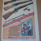 Daisy BB Gun '70s PRINT AD Dick Williams vintage advertisement 1976