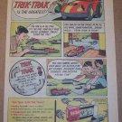 Transogram Trik-Trak '60s PRINT AD race car track toy vintage comic-style advertisement 1965