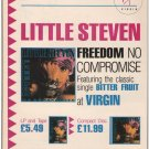 Little Steven '80s PRINT AD Freedom No Compromise album British advertisement 1987