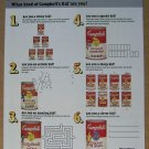 Campbell's Soup puzzle page '80s PRINT AD advertisement 1988