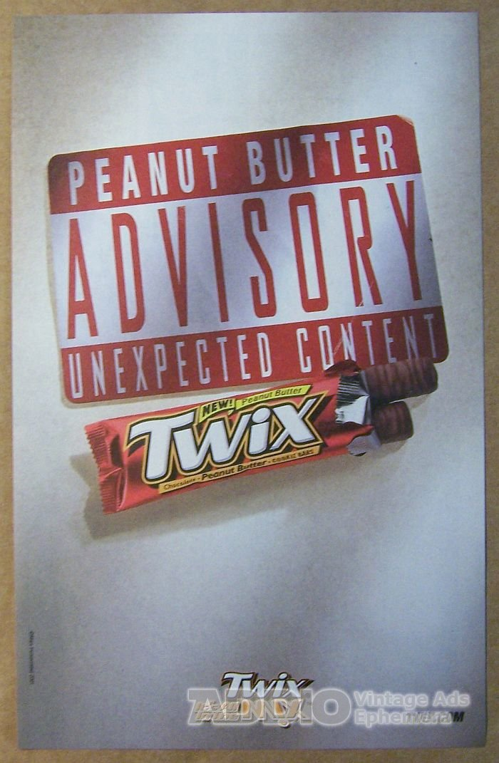 advertising for twix candy Why didn't the left twix/right twix ad mars the candy company decided they weren't selling enough twix candy bars, and launched an ad campaign centered on.