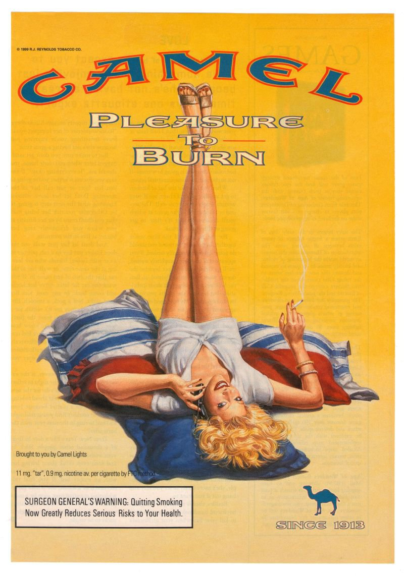 Camel Cigarette Smoking Woman Pinup Sexy Legs Sandals Advertisement Ad 1999