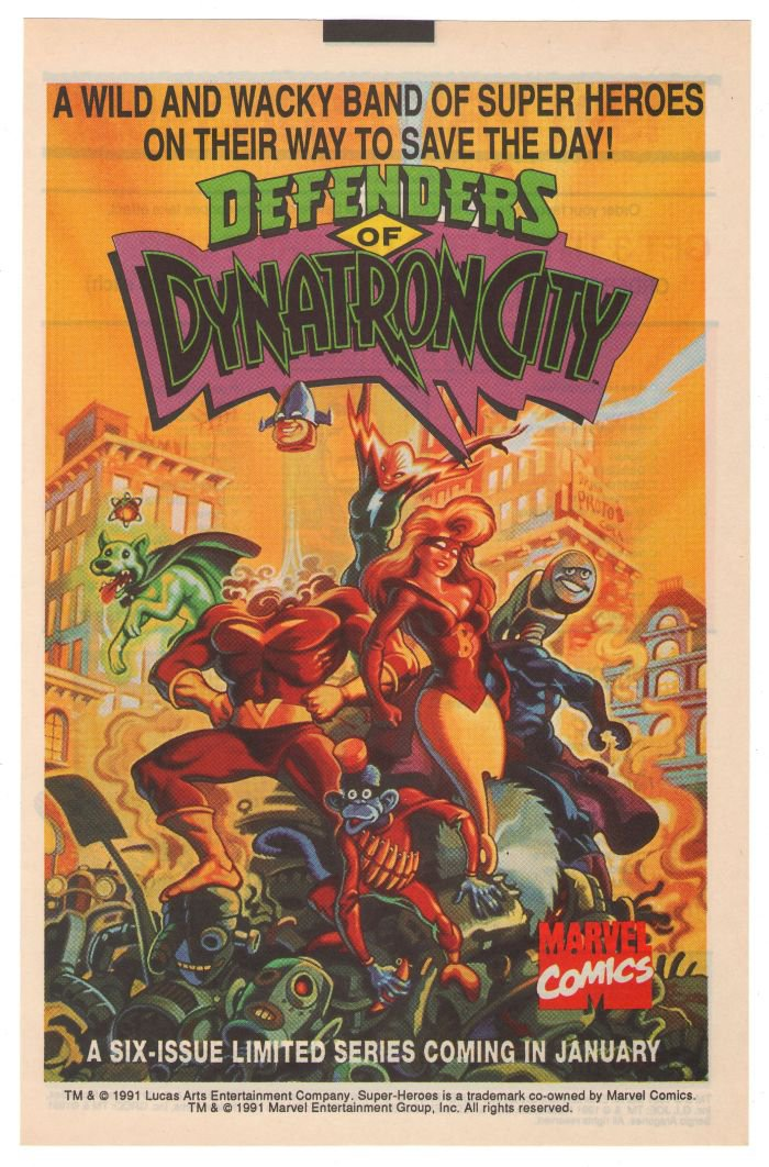 Defenders of Dynatron City '90s PRINT AD Steve Purcell comic advertisement 1991