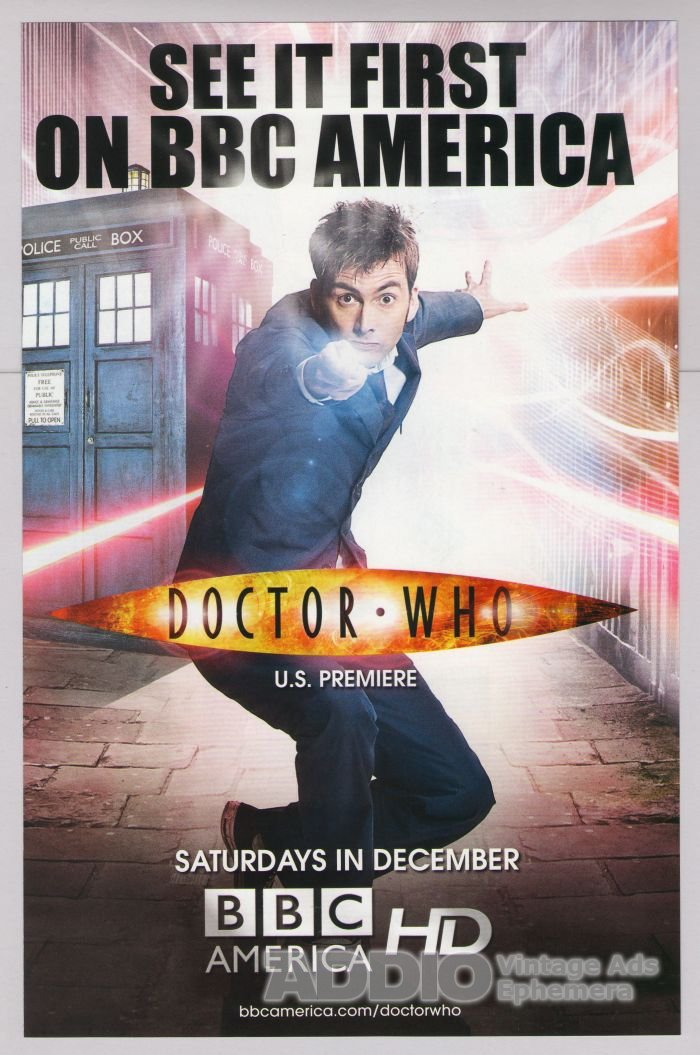 DOCTOR WHO tv show PRINT AD David Tennant Tardis BBC America advertisement Dr 2009