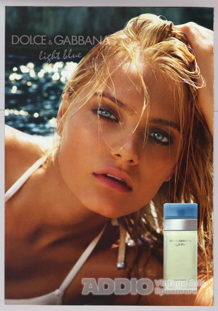 DOLCE & GABBANA Light Blue 2-sided PRINT AD perfume fragrance sample advertisement 2011