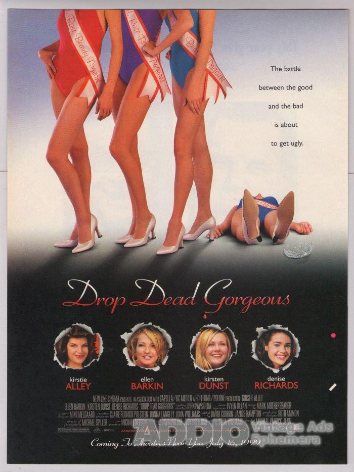 Drop Dead Gorgeous movie PRINT AD Kirsten Dunst DENISE RICHARDS '90s advertisement 1999