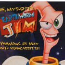 Earthworm Jim Doug TenNapel '90s Cartoon Videocassette VHS Print Ad Only 1995