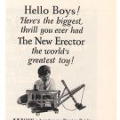 Super Erector Set No. 7 Gilbert '20s Building Toy Advertisement Original Ad 1925