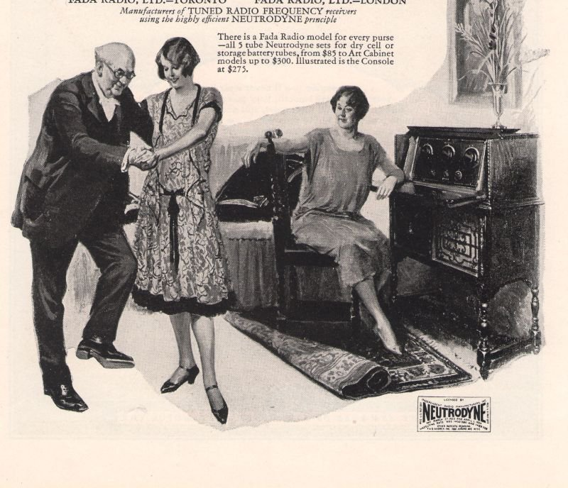 Fada Radio Vincent Lopez Neutrodyne FAD Andrea 1920s Advertisement Original Ad 1925