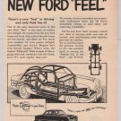 FORD automobile '40s PRINT AD New Ford Feel vintage car advertisement 1949