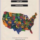 Game Boy Color PRINT AD Nintendo video game advertisement USA map 2000