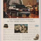 GMC Yukon '90s PRINT AD automobile SUV library advertisement 1996