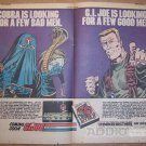 G.I. Joe video game '80s PRINT AD Cobra Parker Brothers vintage 2-page advertisement 1983