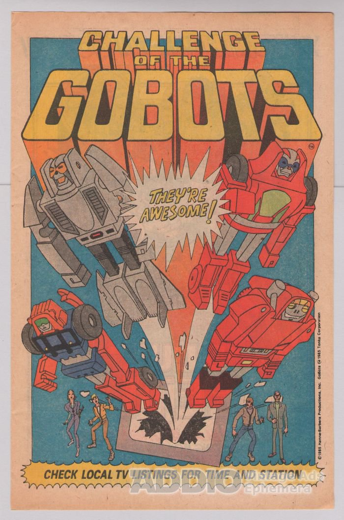 CHALLENGE OF THE GOBOTS '80s cartoon show PRINT AD Hanna-Barbera advertisement 1985