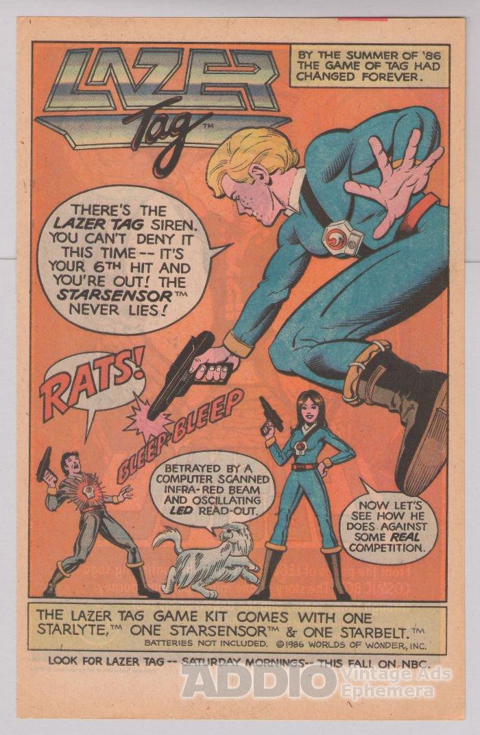 Lazer Tag game '80s PRINT AD Starlyte Starsensor Starbelt laser tag advertisement 1986