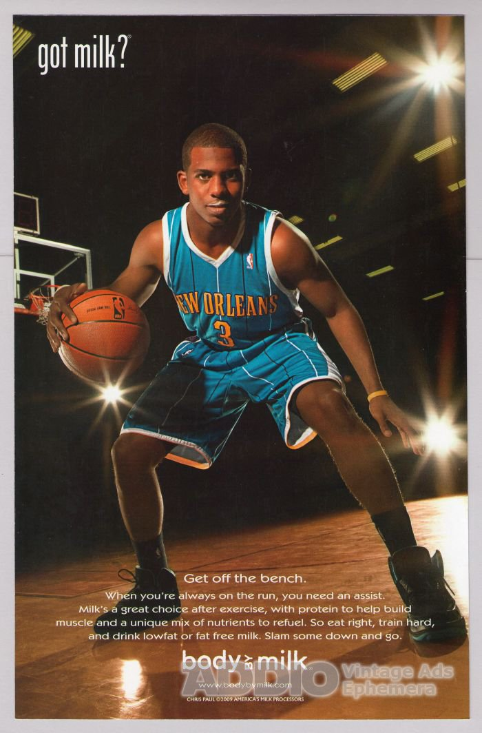 CHRIS PAUL got milk PRINT AD L.A. Clippers NBA basketball advertisement 2009