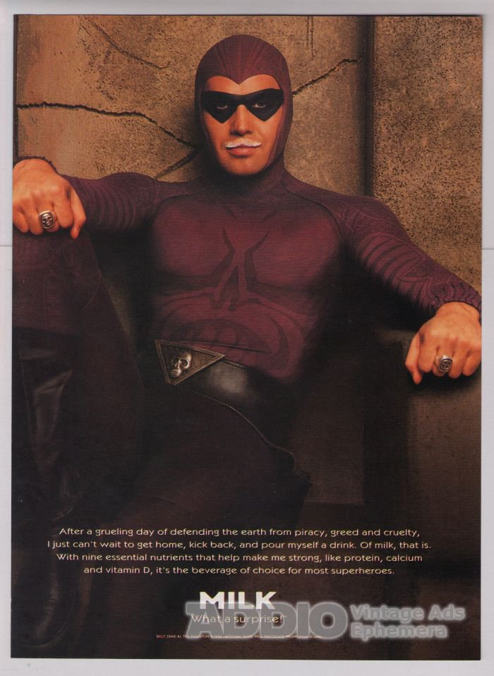 Billy Zane '90s PRINT AD got milk PHANTOM movie advertisement 1996