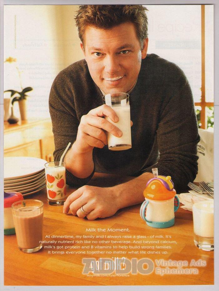 Chef Tyler Florence PRINT AD got milk moustache advertisement 2010