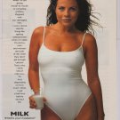 Yasmine Bleeth PRINT AD got milk mustache swimsuit '90s advertisement pinup Baywatch 1996