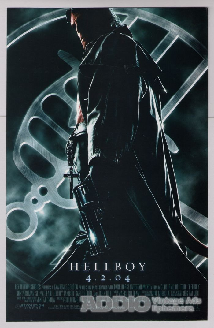 HELLBOY movie PRINT AD Ron Perlman supernatural film advertisement 2004