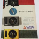 Lorus Quartz Sports Watch '80s wristwatch UK Advertisement PRINT AD Page 1987