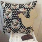 Farmhouse Home Decor Chicken Pillow