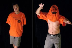 Instant Pumpkinhead Costume - Pull Your Shirt Over your Head