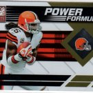 2011 Donruss Elite Power Formulas Josh Cribbs #350/999