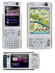 Nokia N95 Mobile Cellular Phone Silver/Plum
