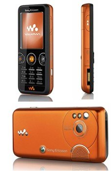 Sony Ericsson W610i in Black/Orange GSM Unlocked Cell Phone