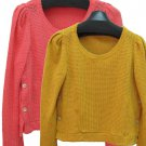 針織衫7022  sweater shirt made in Korea 飄逸蕾絲 也可扣鈕 韓國製造