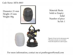 Wooden Barrel - (Bits for WARGAME) - MFA-0003
