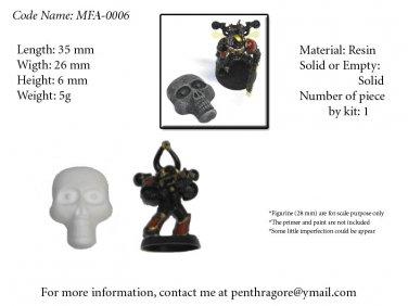 Skull Face w/ Eyes - (Bits for WARHAMMER 40K Mordheim Pulp) - MSF-0006