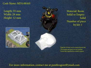 4x Small Bad Skull - (Bits for Wargame) - MFA-0016S