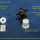 4 x Sci-fi Cylinder - (Bit for WARGAME) - MSF-0014