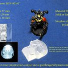 10 x Transparent Bad Skull - (Bits for Wargame) - MFA-0016T