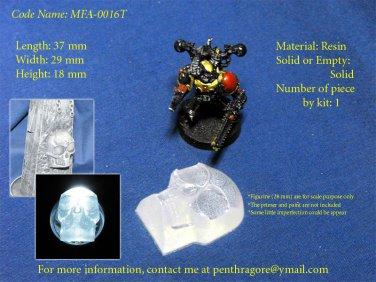 10 x Transparent Bad Skull - (Bits for Wargame) - MFA-0016T