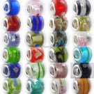 100 x Murono glass story beads Compatible  european beads bracelets chains free shipping