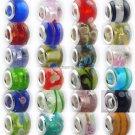 1000pcs x Murono glass story beads Compatible  european beads bracelets chains free shipping
