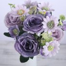 silk roses artificial flowers small pink bouquet for wedding home birthday