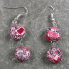 RED AFRICA TURQUOISE STERLING SILVER EARRINGS