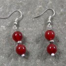Red Agate STERLING SILVER EARRINGS